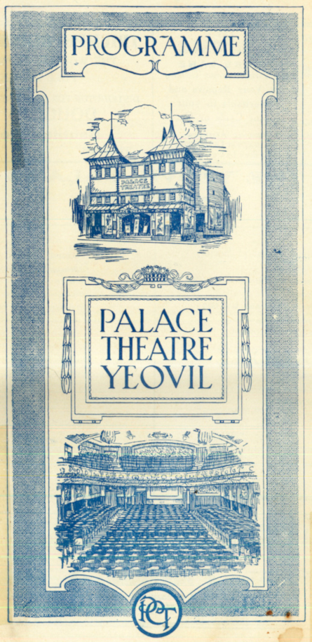Palace Theatre, Programme Front Cover