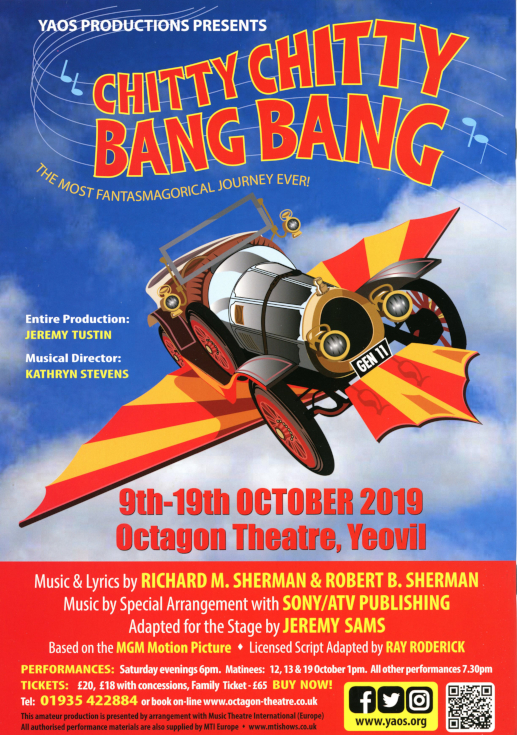 Back Cover - 'Chitty Chitty Bang Bang' October 2019