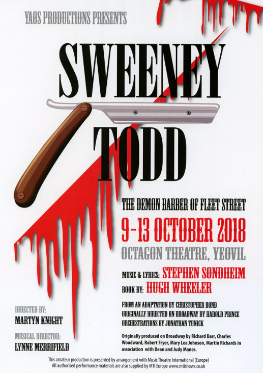 Inside Back Cover - Next Autumn Production 'Sweeney Todd' (October 2018)