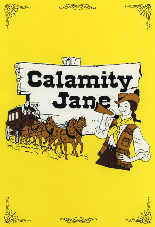 YAOS 1993 Production of 'Calamity Jane' - Programme Front Cover