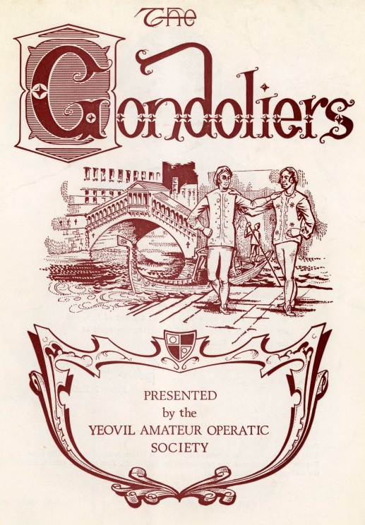 YAOS 1976 Production of 'The Gondoliers' - Programme Front Cover