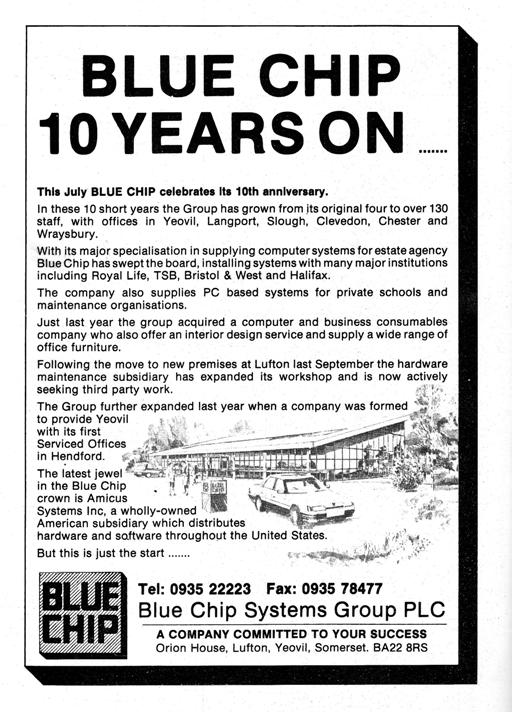Back Cover.  Blue Chip 10 Years On ......