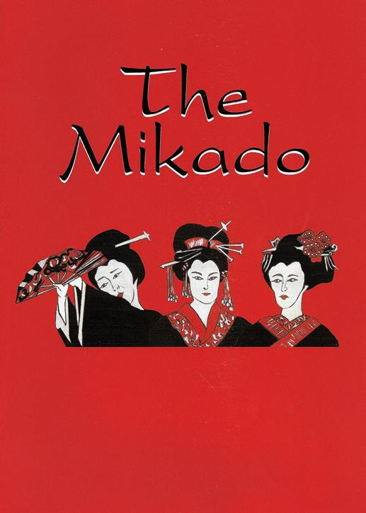 Programme Front Cover for The Mikado 2001