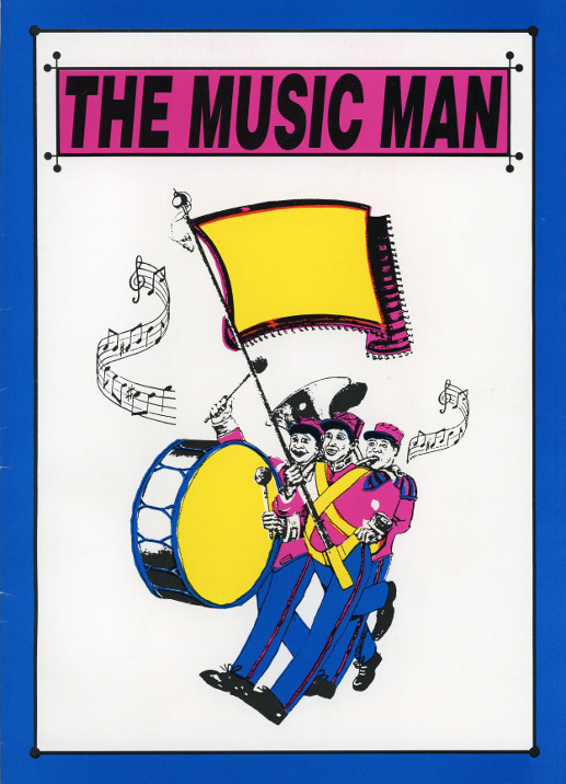 YAOS 1996 Production of 'The Music Man' - Programme Front Cover