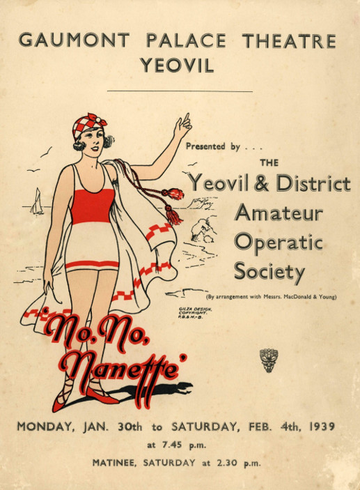YAOS 1939 Production 'No, No, Nanette' - Programme Front Cover