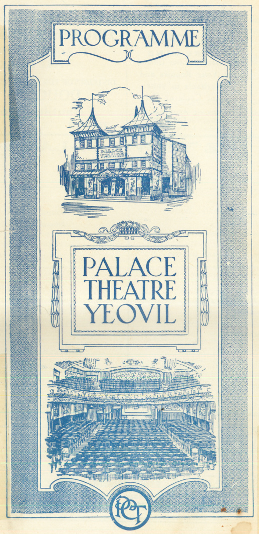 Palace Theatre Yeovil programme (1)