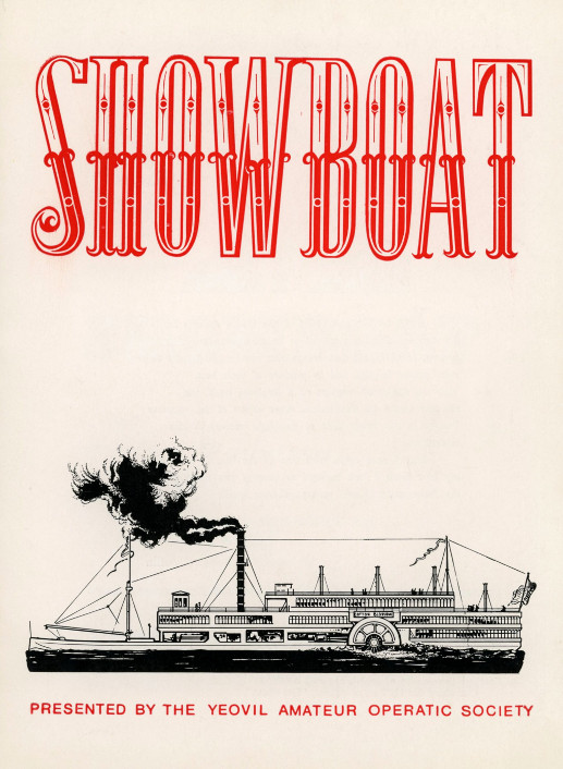 YAOS 1977 Production of 'Show Boat' - Programme Front Cover