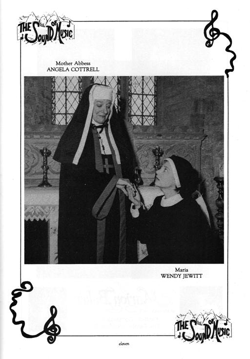 Mother Abbess (Angela Cottrell) and Maria (Wendy Jewitt)