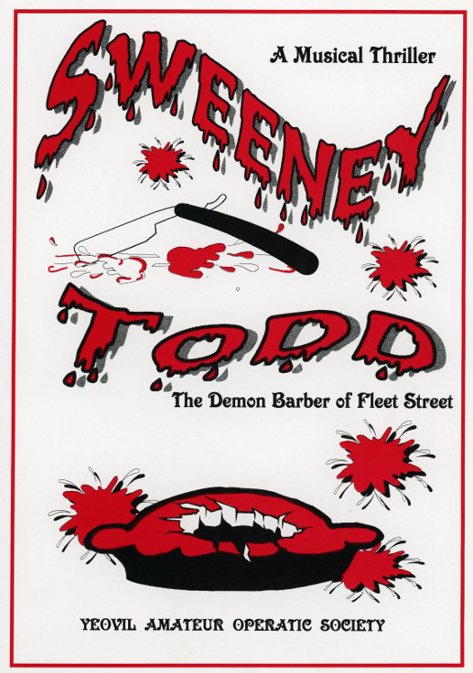 YAOS Production of 'Sweeney Todd' 1999 - Programme Front Cover