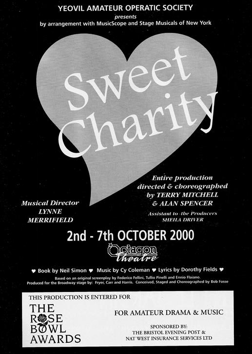 Sweet Charity Programme: Page 01