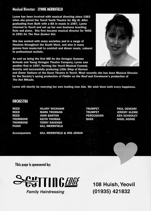 Sweet Charity Programme: Page 11