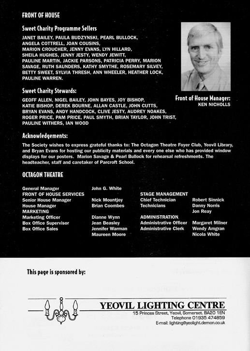 Sweet Charity Programme: Page 15