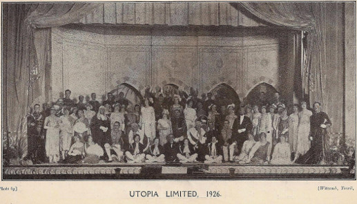 Cast of 'Utopia Limited' 1926 (Copied from 'Tom Jones' 1928 Programme)