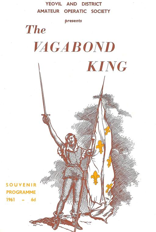 "Programme Front Cover for YAOS production of ""The Vagabond King"" (1961)"